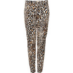 Topshop Animal Print Skinny Trousers