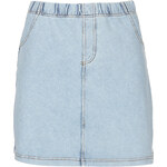 Topshop Denim Look Mini Skirt