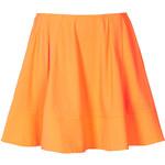 Topshop Bright Orange Crepe Skirt By Boutique