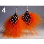 Stoklasa Náušnice peříčkové 10cm (1 pár) - 4 oranžová