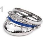 Stoklasa Sada náramků (1 sada) - 1 modrá kobaltová stříbrná