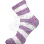 Ponožky Světlana - fialový proužek - 35/42 Boma