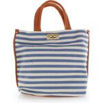 Modro-béžová kabelka Lucy