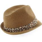 Hnědo-leopardí klobouk Terens