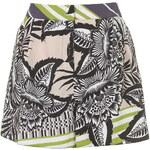Topshop Graphic Palm Print Shorts
