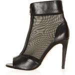 Topshop APRES Mesh Stiletto Boots