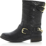 Topshop **Rottie Snake Biker Boots with Chain by Dune