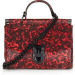 Topshop **Leather Print Messenger Bag by Unique