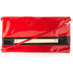 Topshop Patent Flapover Clutch