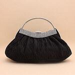 LightInTheBox Shidaili Handmade Gorgeous Silk Evening Bag/Clutches(Black)
