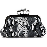 LightInTheBox Shidaili Handmade Leather Evening Bag/Clutches(Black)