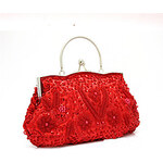 LightInTheBox Shidaili Handmade Claasic Pearl Evening Bag/Clutches(Red)
