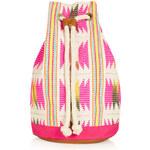 Topshop Flouro Woven Duffle Backpack