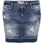 Modrá džínová sukně s potrhanými detaily ONLY Rosie
