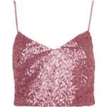 Topshop Pink Sequin Bralet