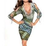 Heine Dámské šaty s korálky zelené