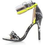 Černo-žluté hadí sandály Jupiter EUR39