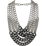 Topshop Thick Curb Multirow Necklace