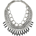 Topshop Multi Row Curb Chain Necklace