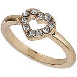 Topshop Crystal Heart Midi Ring