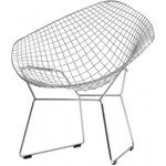Diamond Chair, stříbrná