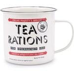 Béžový plechový hrnek Home Front Tea Rations