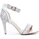 VICES Bílé čarovné dámské sandále - E414W /S2-63P