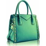 L&S Fashion (Anglie) Kabelka LS00165 zelená