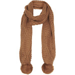 Topshop Fur Pom Cable Scarf