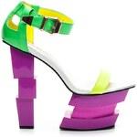 BELLE WOMEN Šíleně módní barevné sandály 37