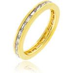 LYRA Prsten s čirými Zirkony R08022G-C01