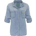 gwynedds Jeansbluse blau