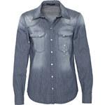 SET Bluse in Denim-Optik blau