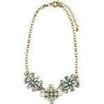 RUBIES AND ROCKS Statement-Kette DIZZY FLOWERS blau