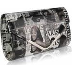 LS Fashion společenská kabelka LS0249 černá