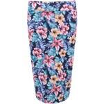 Modrá sukně s barevnými květy New Look
