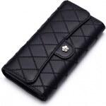 NUCELLE dámská peněženka Emboss černá