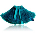 LE PETIT TOM Dolly sukně Modrý ptáček Petti tyrkysová Velikost: PETIT (1-3 roky) - délka sukně 29 cm