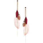 Topshop Large Feather Front To Back Earrings