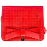 Lydc červená kabelka s mašlí