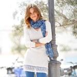 Blancheporte Tunikový pulovr bílá, velikost 34/36