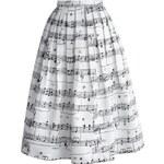 CHICWISH Dámská sukně Midi Dance With Music Notes Velikost: M