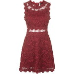 Topshop Structured Lace Skater Dress