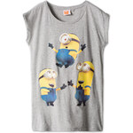 C&A Damen Minions-T-Shirt in grau von Clockhouse