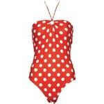 Plavky levně, dámské jednodílné plavky TOMMY HILFIGER (vel.42 skladem) 42 červená B Dopravné zdarma!