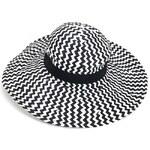 Letní klobouk, dámské klobouky INTRIGUE černo-bílá