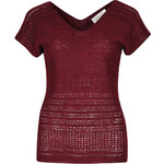 Marks and Spencer Shimmer Stitched Knitted Top