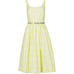 Marks and Spencer Pure Cotton Lattice Prom Skater Dress with Belt