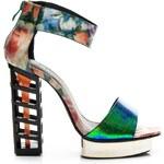 BELLE WOMEN Jedinečné barevné disco sandály 36
