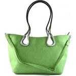 Zelená kabelka na rameno Olivie / Velké kabelky Marlen